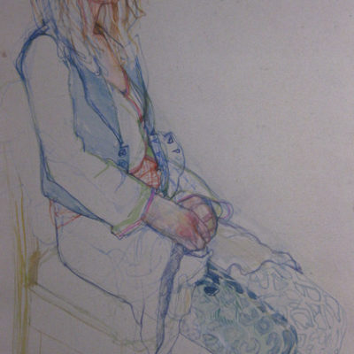 Life Drawing Session.  Watercolour on Two Rivers handmade paper. 55cm x 75cm approx