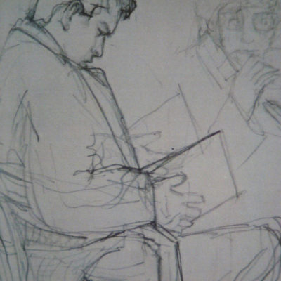 Live drawing...you can capture those quiet moments..