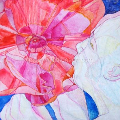 Poppy  Watercolour on Board 20cm x 20cm
