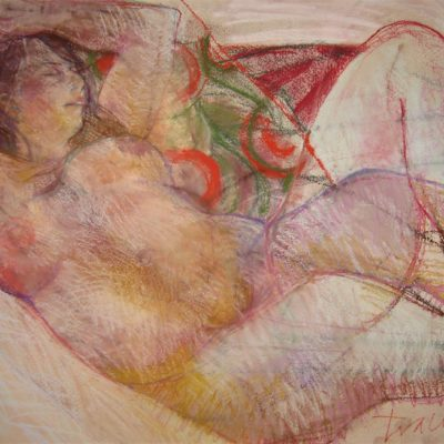 Life drawing Sessions. Pastel on Two Rivers handmade paper. 55cm x 75cm approx.