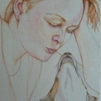 Pastel on paper.  20cm x 30cm approx Photo.
